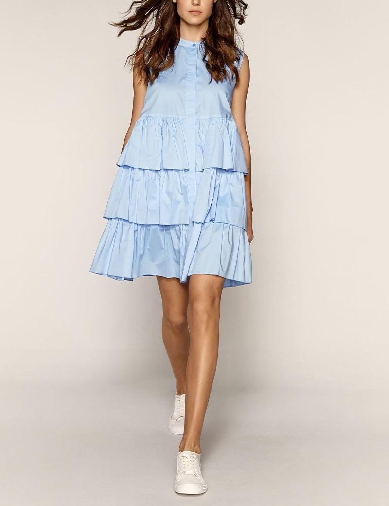Φόρεμα από βαμβάκι με βολάν EIGHT by ACCESS FASHION