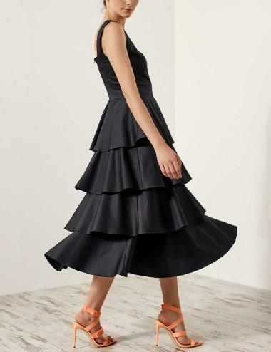 Φόρεμα με layers βολάν SPELL by ACCESS FASHION