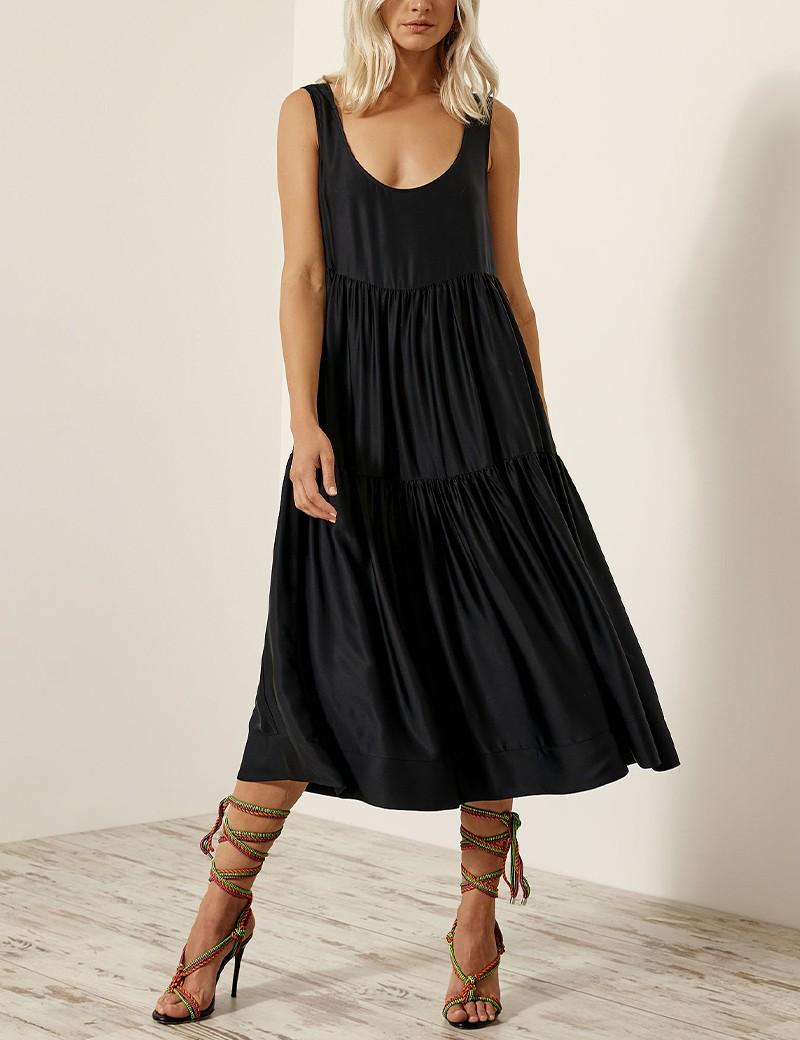 Φόρεμα με ραφές και βολάν ACCESS FASHION