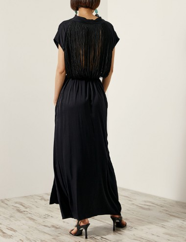 Φόρεμα κρουαζέ με πλάτη με κρόσσια ACCESS FASHION
