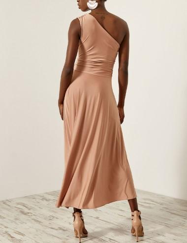 Φόρεμα ελαστικό ακάλυπτο ώμο