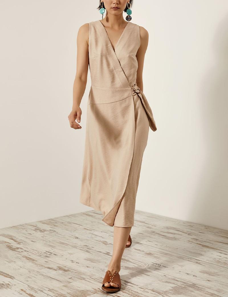 Φόρεμα κρουαζέ με αγκράφα ACCESS FASHION