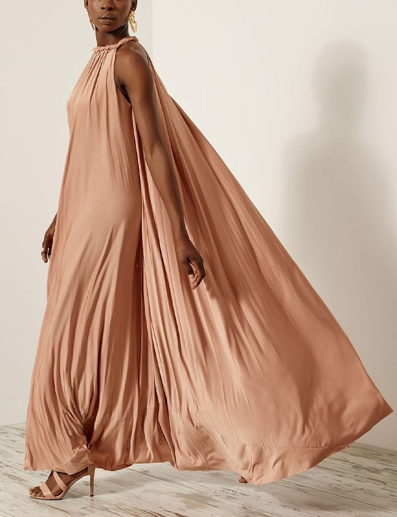 Φόρεμα ριχτό πλισέ αμάνικο ACCESS FASHION