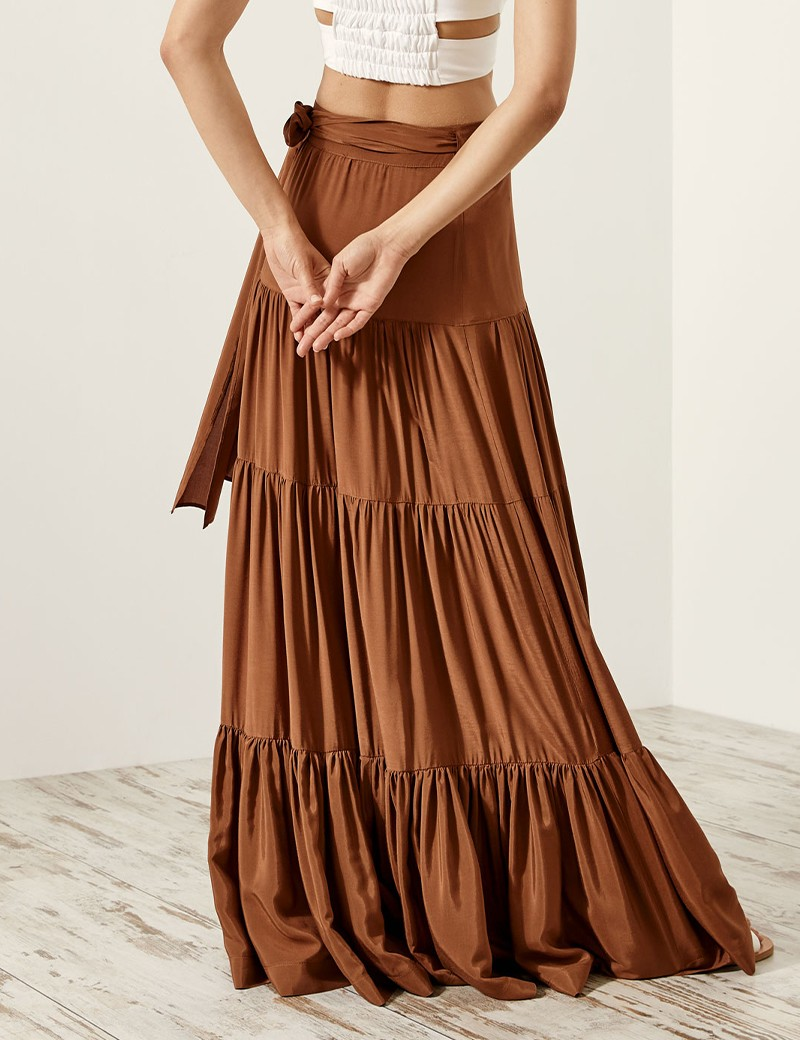 Maxi flowing wrap skirt ACCESS FASHION