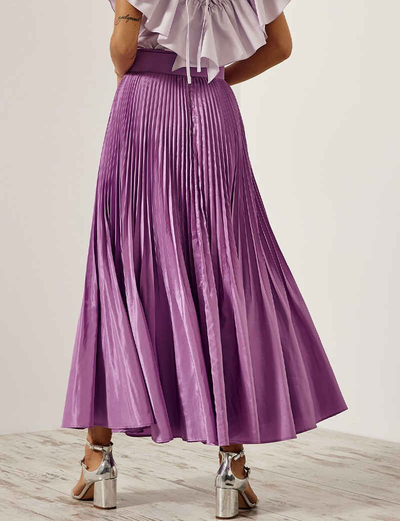 Maxi skirt with pleated detail SPELL by ACCESS FASHION