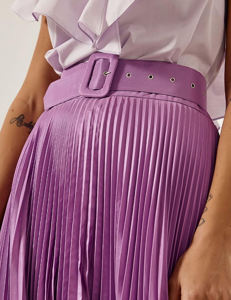 Φούστα μάξι με πλισσέ πάνω μέρος SPELL by ACCESS FASHION