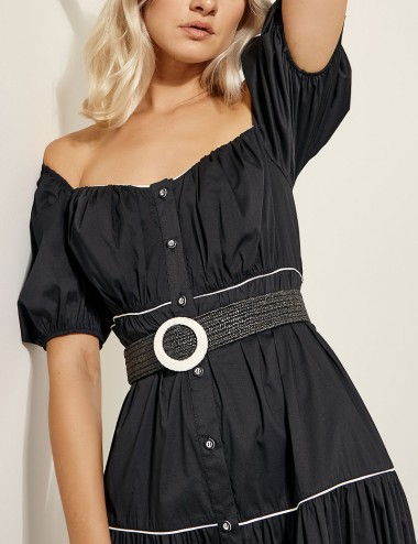 Φόρεμα σεμιζιέ με ρέλια ACCESS FASHION