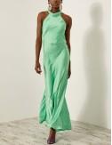 Φόρεμα έξωμο με σατέν όψη ACCESS FASHION