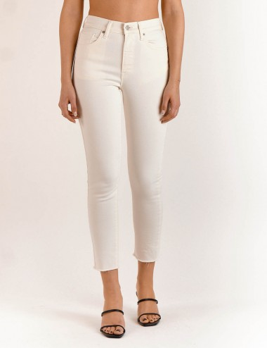 Παντελόνι Kate Off - White Cropped SALT & PEPPER JEANS Co.