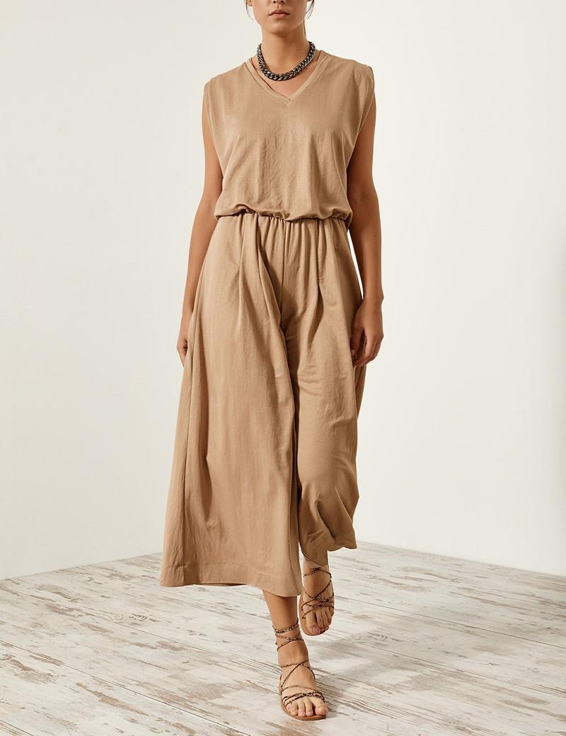 Φόρμα ολόσωμη με ελαστική μέση EIGHT by ACCESS FASHION