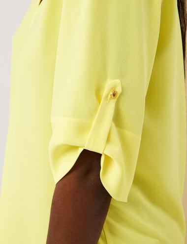 Μπλούζα ζoρζέτα με V FOREL
