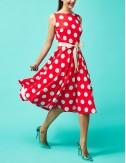 Φόρεμα εξώπλατο πουά FOREL by VASSILIS ZOULIAS