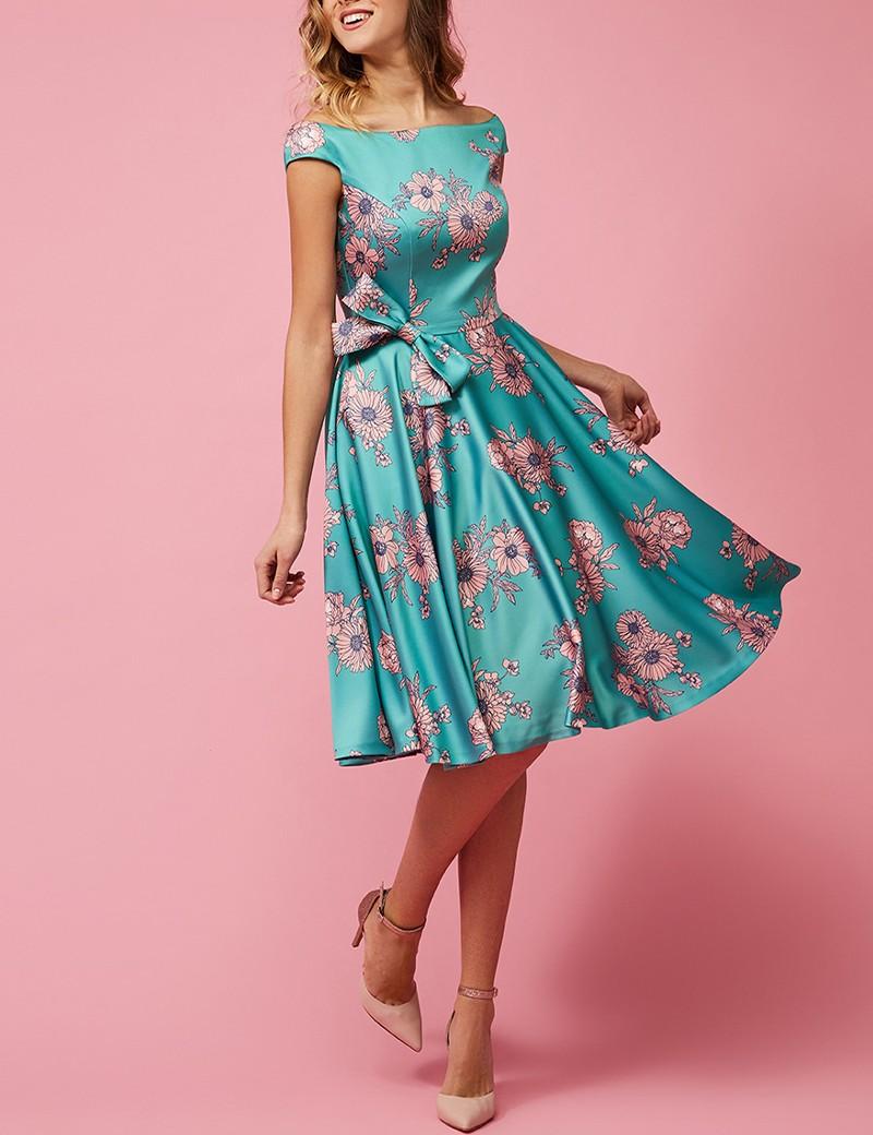 Φόρεμα σατέν με φιόγκο στη μέση FOREL by VASSILIS ZOULIAS