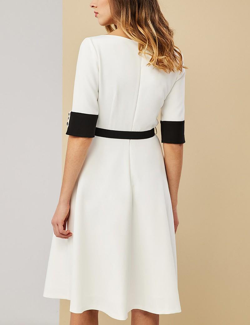 Φόρεμα με λεπτομέρειες σε αντίθεση FOREL
