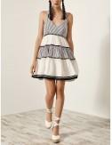 Φόρεμα μίνι με βολάν και ρίγες SPELL by ACCESS FASHION