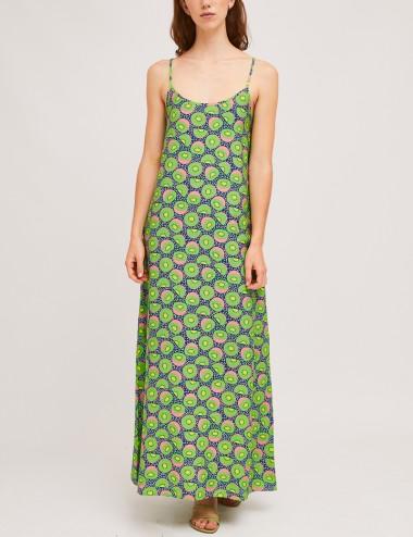 Φόρεμα μάξι τιραντέ με print COMPANIA FANTASTICA