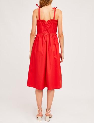 Φόρεμα μίντι από βαμβάκι με τιράντες COMPANIA FANTASTICA