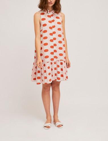 Φόρεμα σεμιζιέ αμάνικο με print COMPANIA FANTASTICA