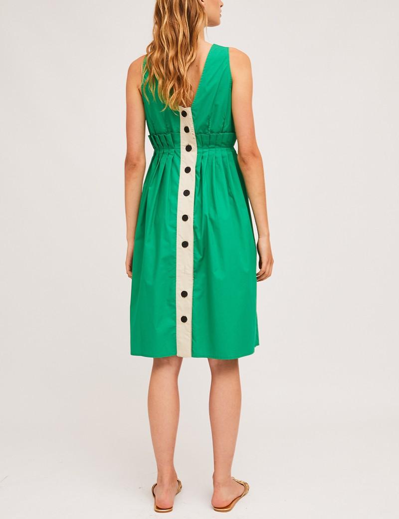 Φόρεμα βαμβακερό με κουμπιά πίσω COMPANIA FANTASTICA