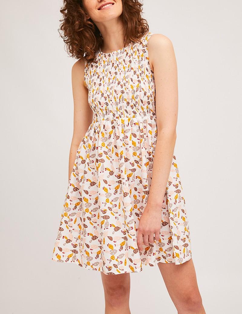 Φόρεμα βαμβακερό με print COMPANIA FANTASTICA