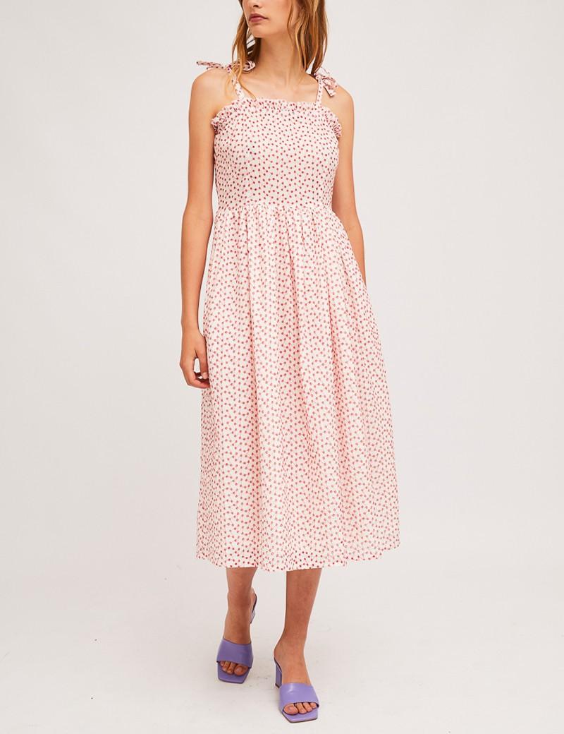 Φόρεμα μίντι με λεπτό τιραντάκι COMPANIA FANTASTICA