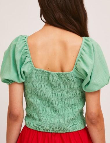 Μπλούζα βαμβακερή με φουσκωτό μανίκι COMPANIA FANTASTICA