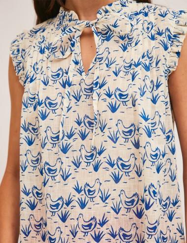 Μπλούζα με δέσιμο στο λαιμό COMPANIA FANTASTICA