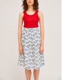 Φούστα μίντι από βαμβάκι με print COMPANIA FANTASTICA