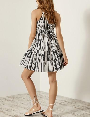 Φόρεμα έξωμο ριγέ SPELL by ACCESS FASHION