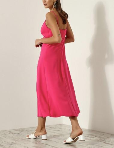 Φόρεμα με σούρα και κορδόνια ACCESS FASHION