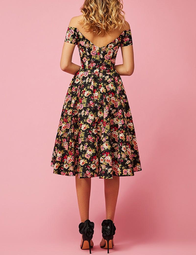 Φόρεμα έξωμο φλοράλ κλος FOREL by VASSILIS ZOULIAS