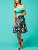 Φόρεμα μίντι με συνδυασμό υφασμάτων FOREL by VASSILIS ZOULIAS