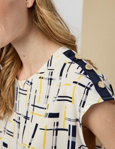 Μπλούζα αμάνικη με κουμπιά στους ώμους FOREL