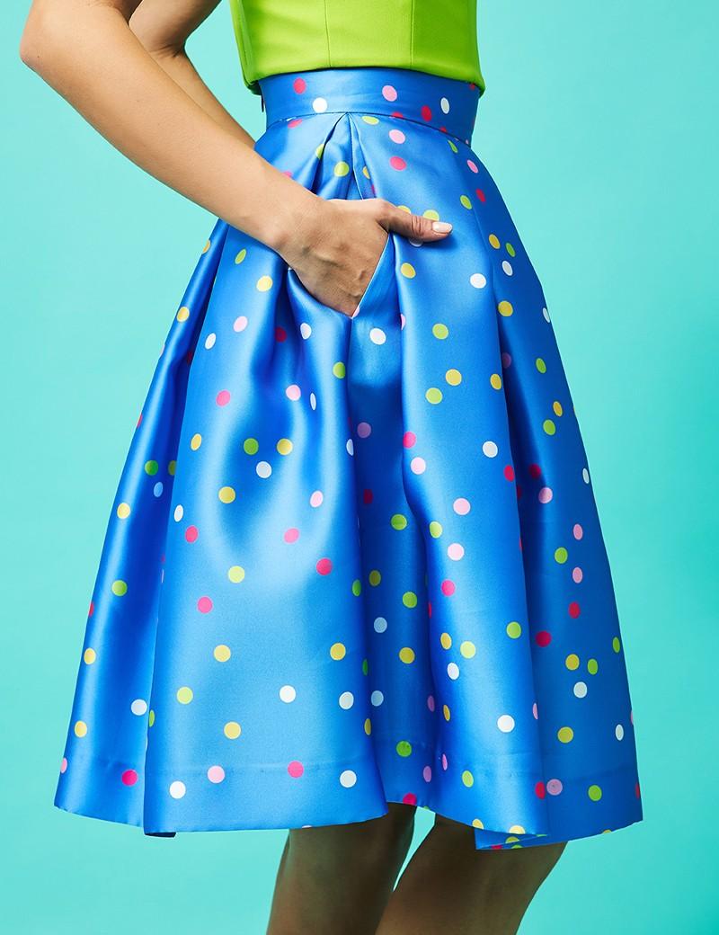 Φούστα με πολύχρωμα πουά FOREL by VASSILIS ZOULIAS
