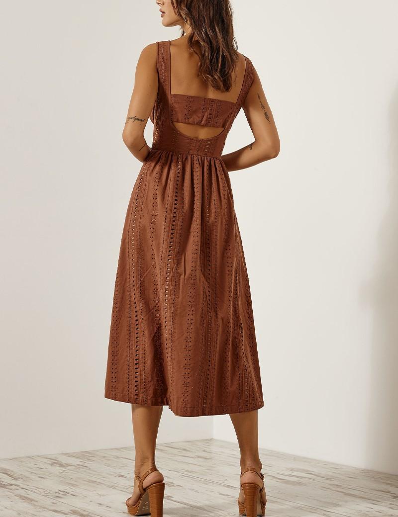 Φόρεμα δαντέλα με άνοιγμα στην πλάτη ACCESS FASHION