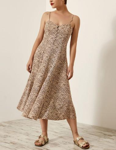 Φόρεμα κλος με animal print EIGHT by ACCESS FASHION