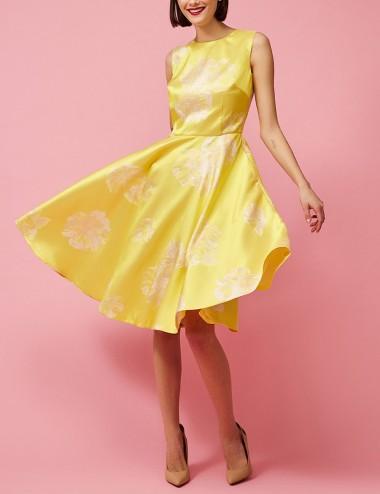 Φόρεμα μπροκάρ σατέν αμάνικο FOREL by VASSILIS ZOULIAS