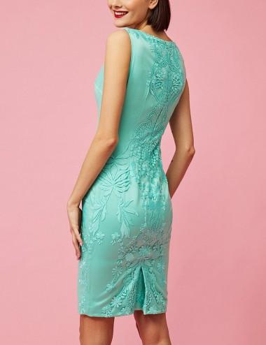 Φόρεμα μίντι αμάνικο με κέντημα FOREL by VASSILIS ZOULIAS