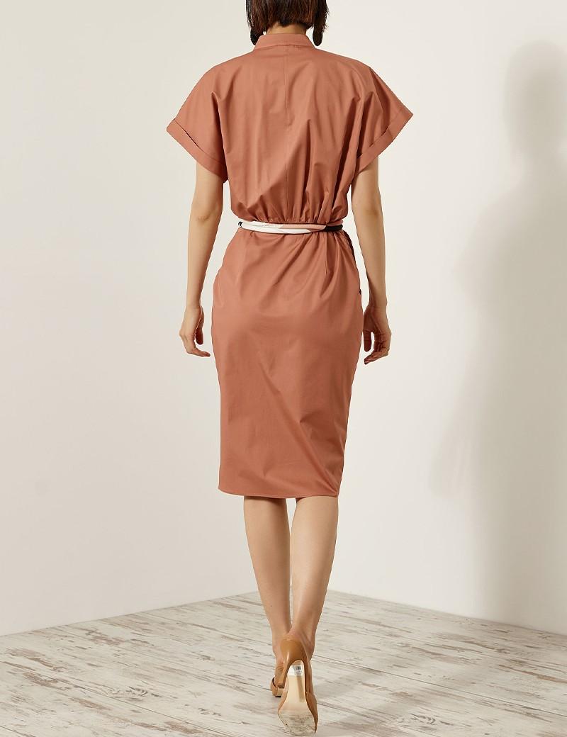 Φόρεμα κρουαζέ με πέτο ACCESS FASHION