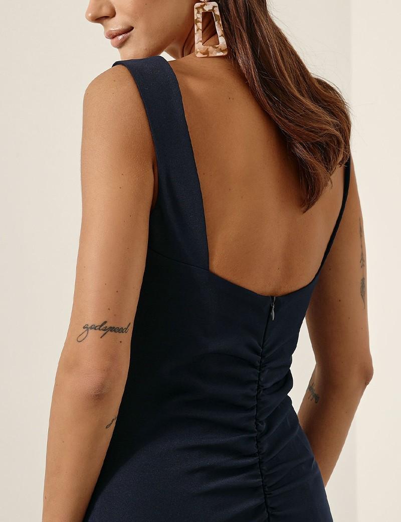 Φόρεμα pencil με σούρα στη μέση ACCESS FASHION