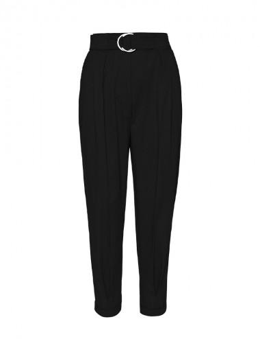 Παντελόνι baggy με ρεβέρ και ζώνη SPELL by ACCESS FASHION