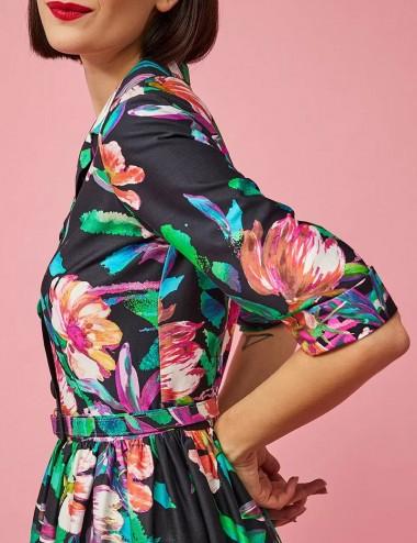 Φόρεμα σεμιζιέ φλοράλ FOREL by VASSILIS ZOULIAS