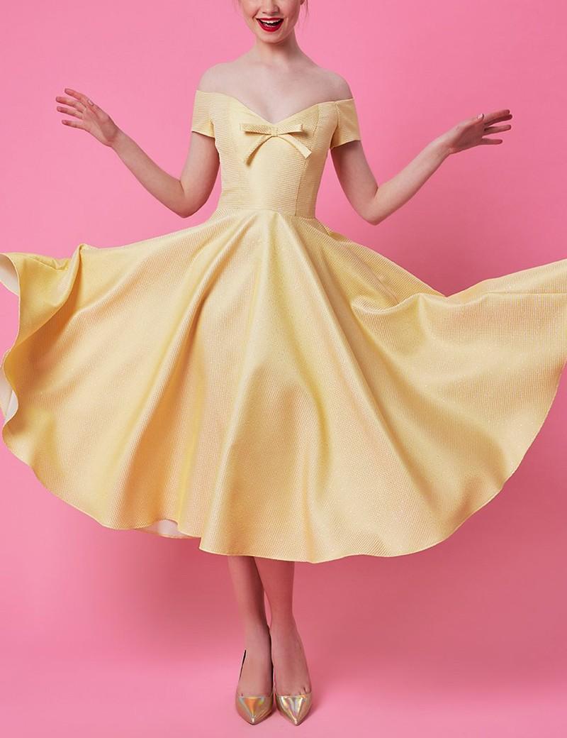Φόρεμα μίντι με φιογκάκι στο στήθος FOREL by VASSILIS ZOULIAS