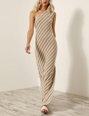 Φόρεμα μάξι πλεκτό με έναν ώμο ACCESS FASHION