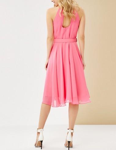 Φόρεμα μίντι με παρτούς ώμους FOREL