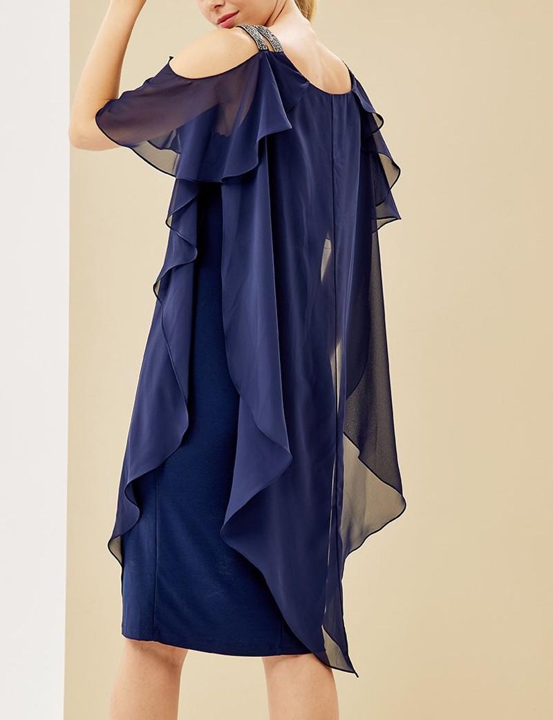 Φόρεμα με στρας στους ώμους FOREL