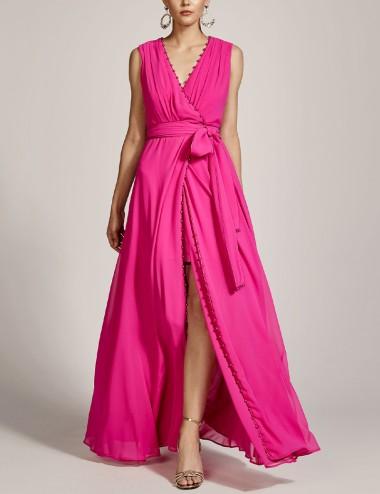 Φόρεμα μάξι κρουαζέ με πέρλες SPELL by ACCESS FASHION