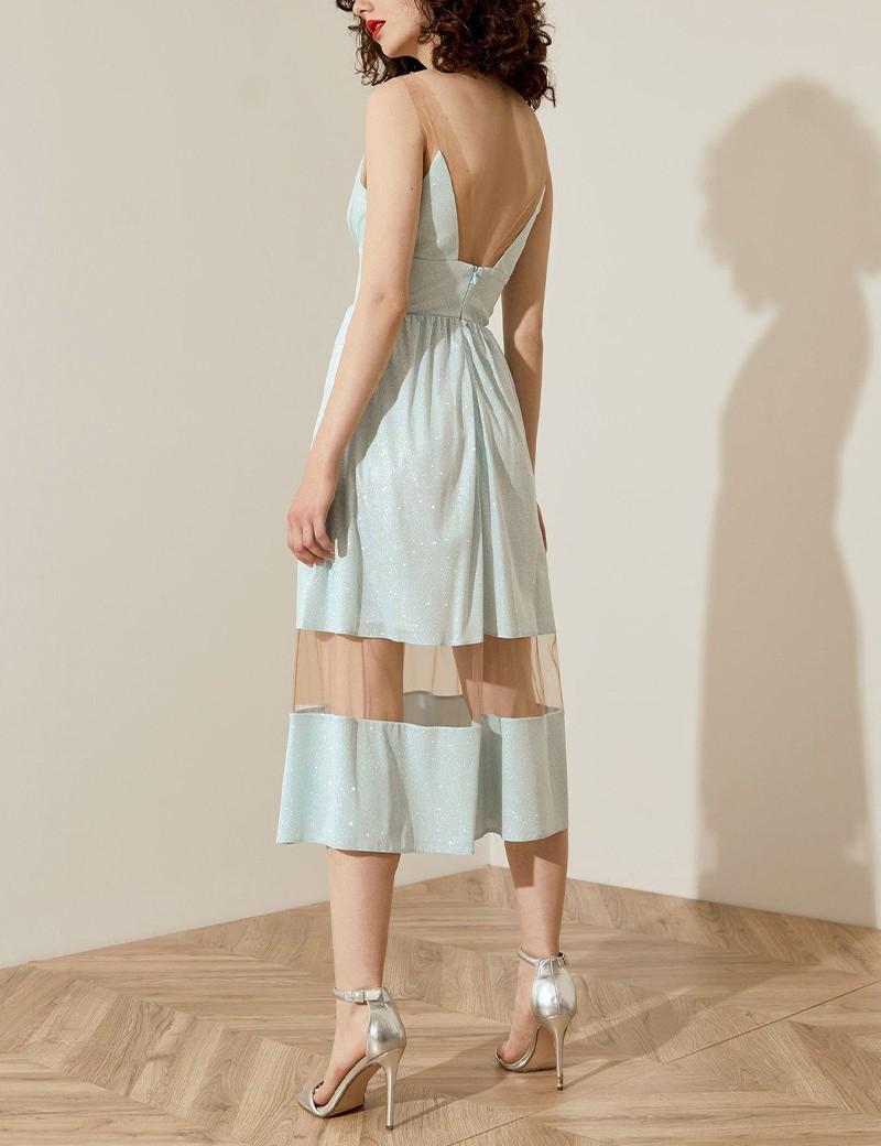 Φόρεμα glitter με λεπτομέρειες διαφάνειας SPELL by ACCESS FASHION