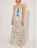 Φόρεμα μακρύ τιραντέ με print COMPANIA FANTASTICA