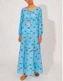 Φόρεμα μακρύ βαμβακερό COMPANIA FANTASTICA